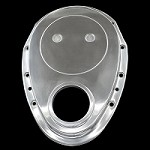 MCC301 polished aluminum small block chevy timing cover 283 327 350 383 400