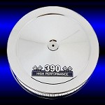 MCC48-3 Chrome air cleaner with 390 emblem fits Ford 390 fe engines
