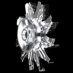 MCC561 Chrome big and small block chevy alternator fan and pulley set