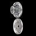 MCC600602 Chrome small block Chevy pulley kit 2 pulley set short water pump 283 327 350