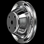 MCC604 Chrome small block chevy 1 groove long water pump upper pulley