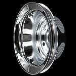 MCC606 Chrome small block chevy 1 groove crankshaft pulley for long water pump