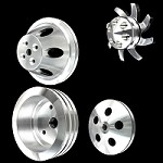 MCC907913903925922 Billet small block chevy pulley kit short water pump 4 pulley Set alt ps