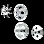MCC907913908911922 Billet small block Chevy pulley kit long water pump 4 pulley set  alt and ps