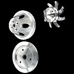 MCC907913916917 Billet big block chevy pulley kit short water pump 1 groove 3 pulley set 396 427 454