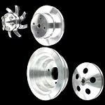 MCC907913926927922 Billet big block Chevy pulley kit long water pump 4 pulley set 396 427 454 alt ac and ps