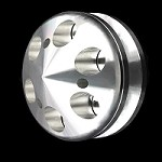 MCC907 Billet small and big block chevy alternator bullet nose pulley