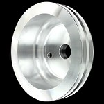 MCC911 Billet small block chevy crankshaft 2 groove pulley for long water pump