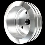 MCC912 Billet small block chevy crankshaft 3 groove pulley for long water pump