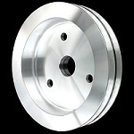 MCC919 Billet big block chevy 2 groove crankshaft pulley for short water pump 396 427 454