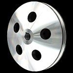MCC922 Billet small and big block chevy power steering pulley 1 groove short and long pump